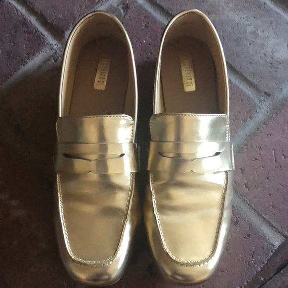 f7e21d95f10 Forever 21 Gold Loafers
